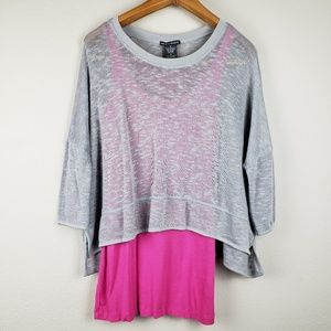 Chelsea & Theodore knit layered top size M